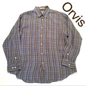 Orvis Linen Men's Shirt Size XL